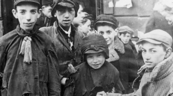 YV 1605 577 Warsaw, Poland children in ghetto